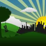 immagine con sole e albero, sostenibilità agroalimentare